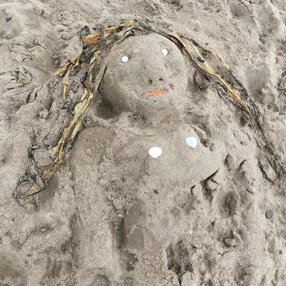 Beach Art in Broughty Ferry