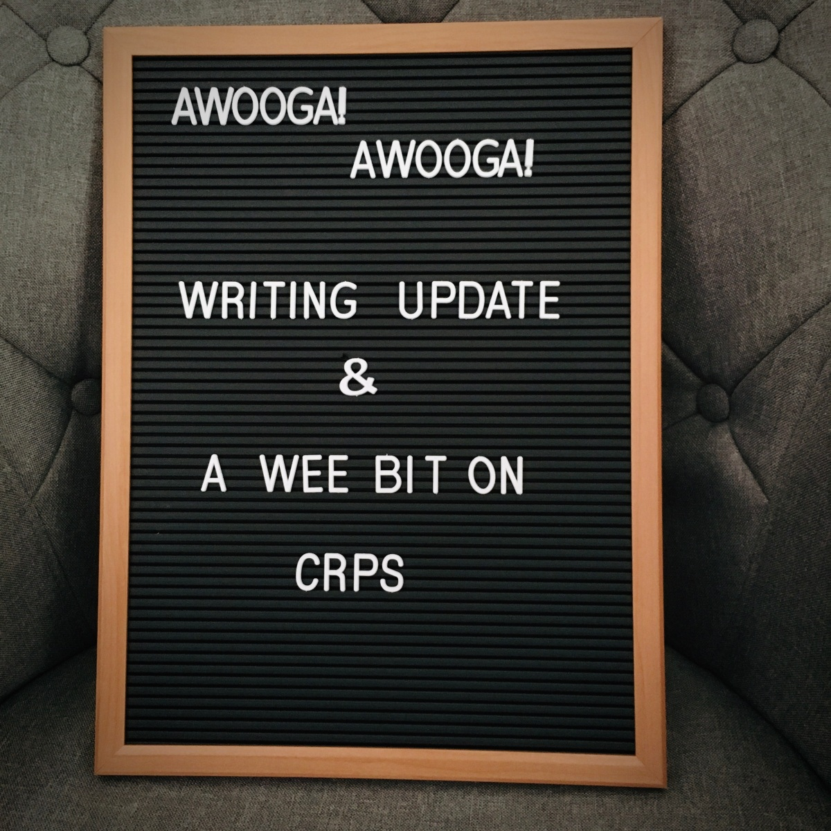 Writing Update and A Wee Bit onCRPS